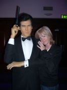 OK, so hugging Pierce Brosnon's waxed statue may have bent the rules a little!